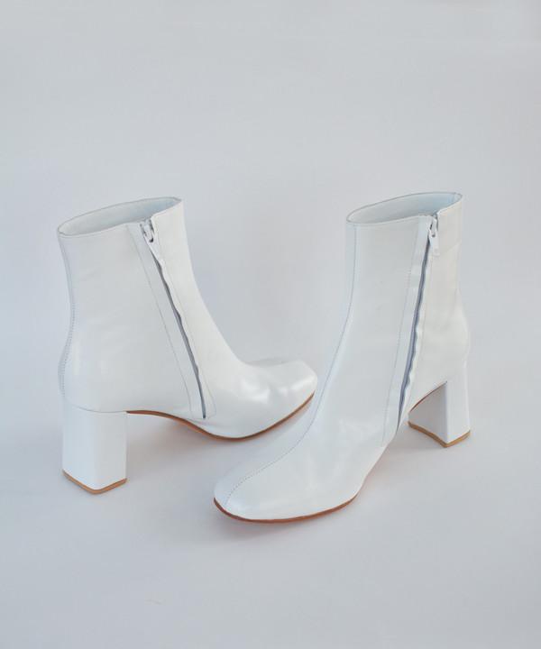 Maryam Nassir Zadeh White Calf / White Shine Agnes Boot