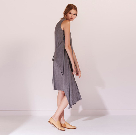 Kowtow Building Block envelope dress - grey marble