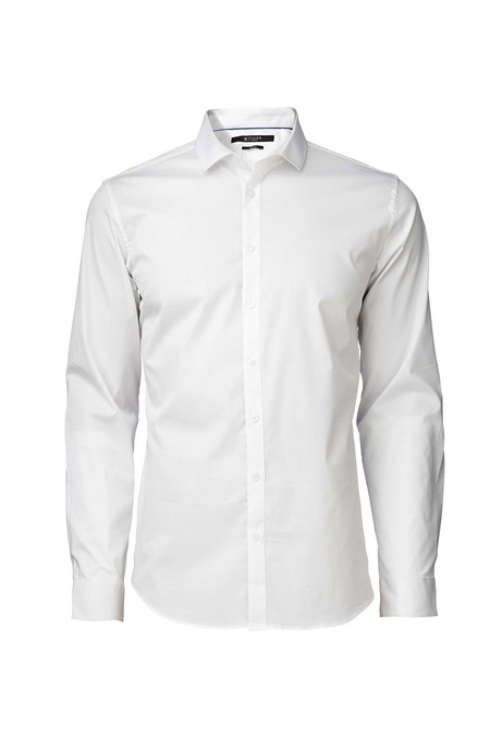 Men's Tiger of Sweden Steel 1 Cotton Shirt - White
