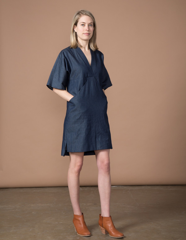 SBJ Austin Kelly Dress - Denim Chambray