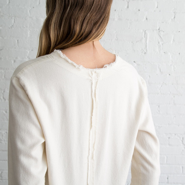 Black Crane Wide Top - Cream