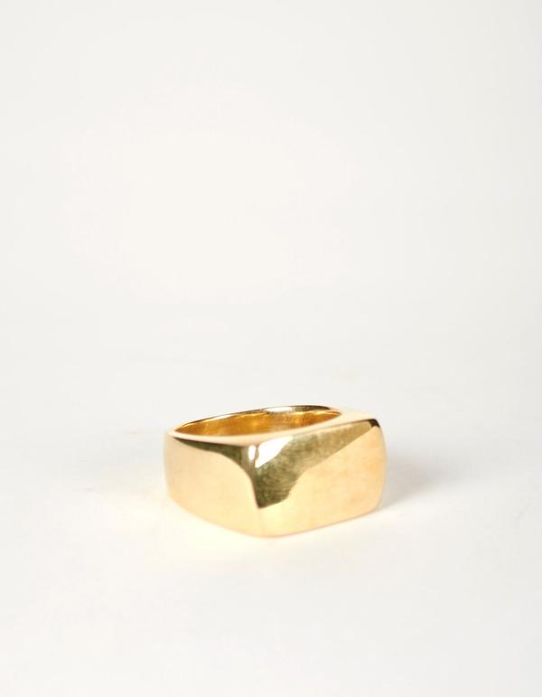 Jon Swinamer Plain Signet Ring Bronze
