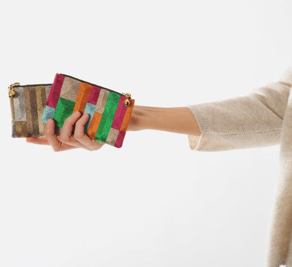Anne Grand-Clément Tetris Multicolor Extra Small Pouch