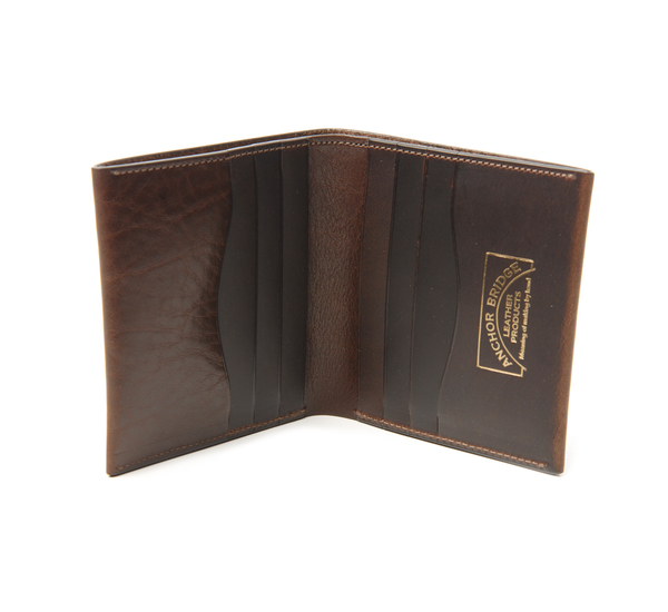 Anchor Bridge Chocolate Brown Ab Billfold Wallet