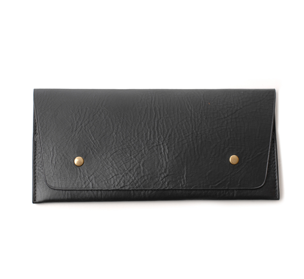 Steve Mono Black Travel Wallet