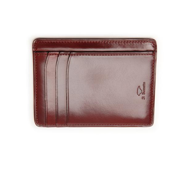 Il Bussetto Bordeaux Card Case Wallet