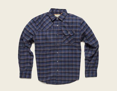 Men's Howler Brothers Harker's Flannel - Deep Blue