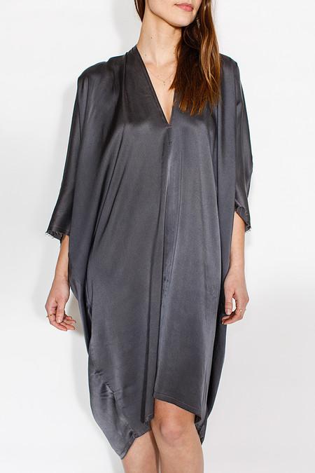 Miranda Bennett In-Stock: Muse Dress, Silk Charmeuse in Slate