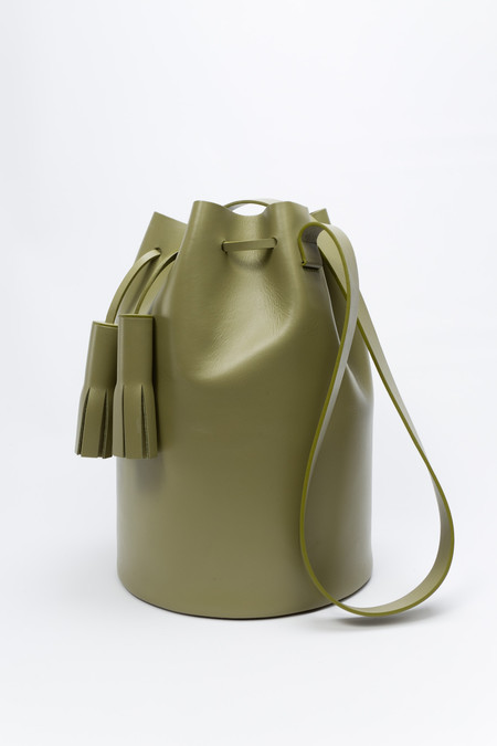Building Block Bucket in Olive