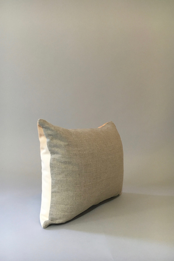 Materials + Process Two-Toned Modern Leather Pillow, medium