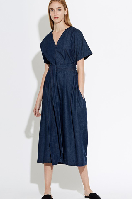 WAVEN Caaren Denim Jumpsuit- Rinse Blue