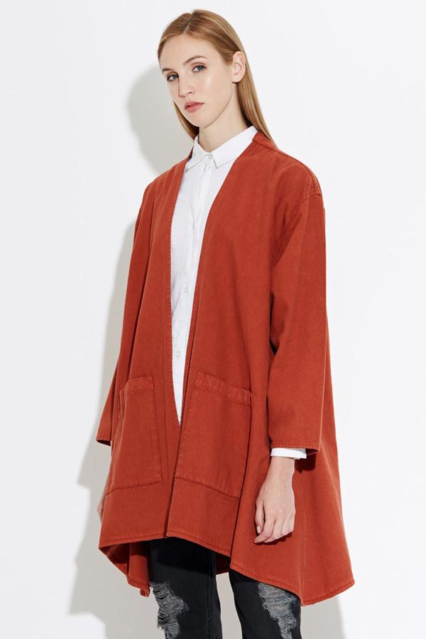 WAVEN Eva Kimono Jacket- Burnt Orange