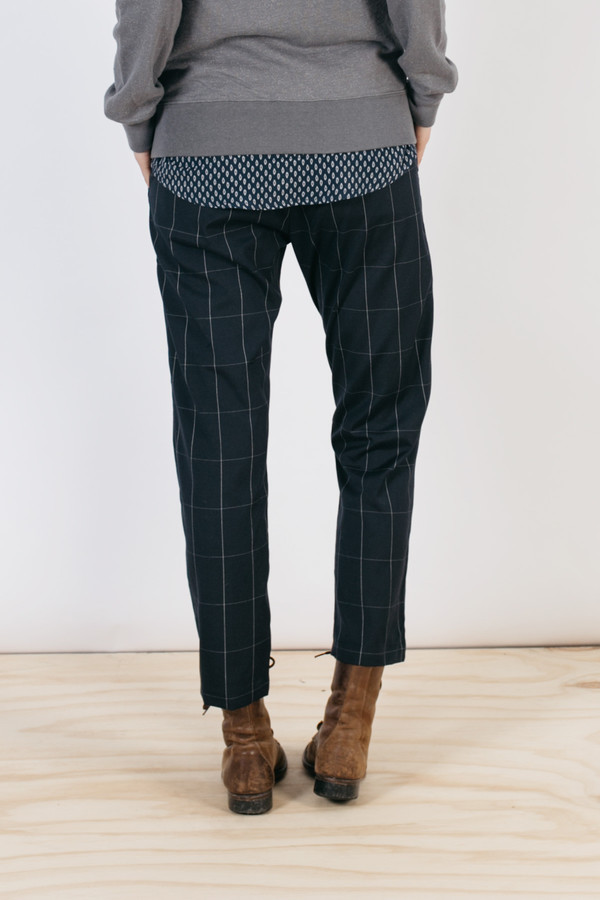 Bridge & Burn Ellis Navy Grid