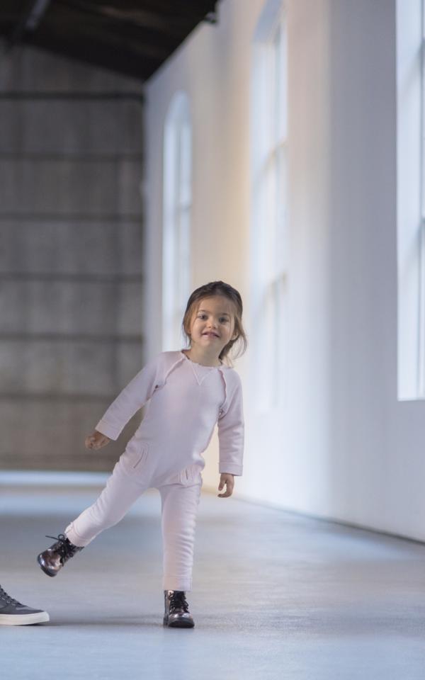 Andorine Pink Fleece Jumpsuit