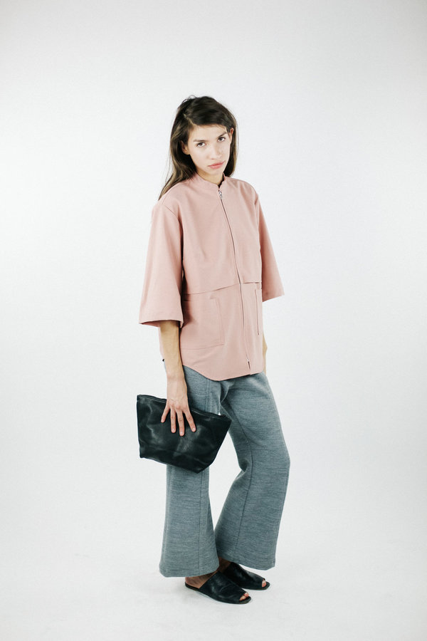 House of Sunny Basic Up Shirt - Lust Pink