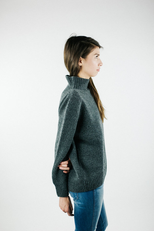 Objects without Meaning Mock Neck Sweater - Grey