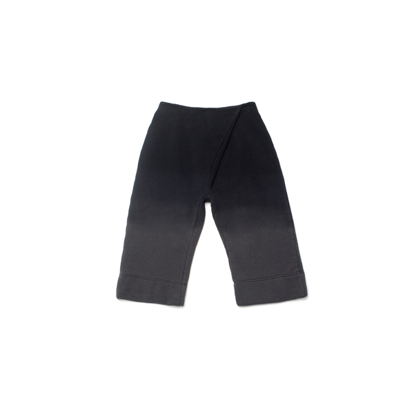 OMAMImini Black Pleated Wide-Leg Ombré Sweatpants