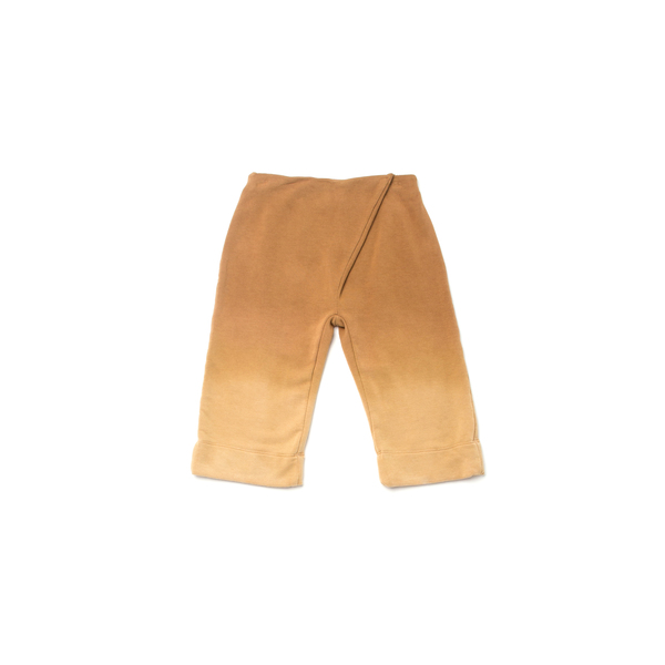 OMAMImini Camel Pleated Wide-Leg Ombré Sweatpants
