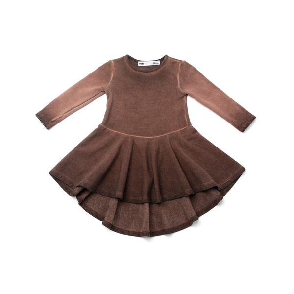 OMAMImini Brown High-low Ombré Dress