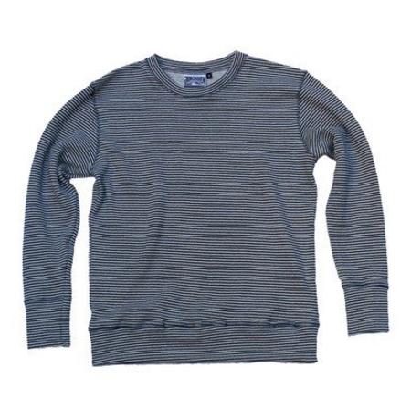 Men's Jungmaven Yarn Dyed Stripe Crewneck Sweatshirt