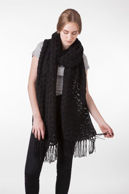 Bare Knitwear Josephine Scarf in Black