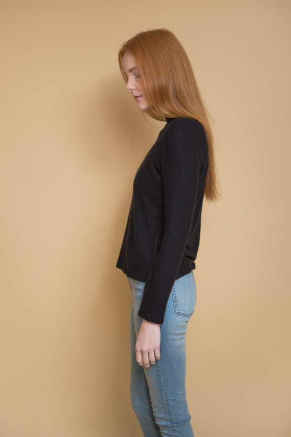 Nytt Mock Neck Top / Black