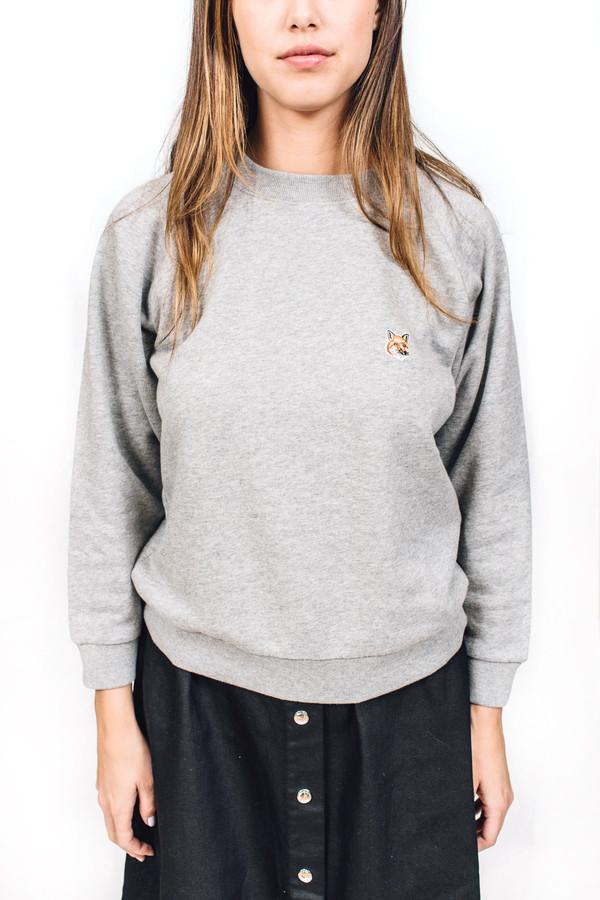 Maison Kitsune Sweat Shirt Fox Head Patch