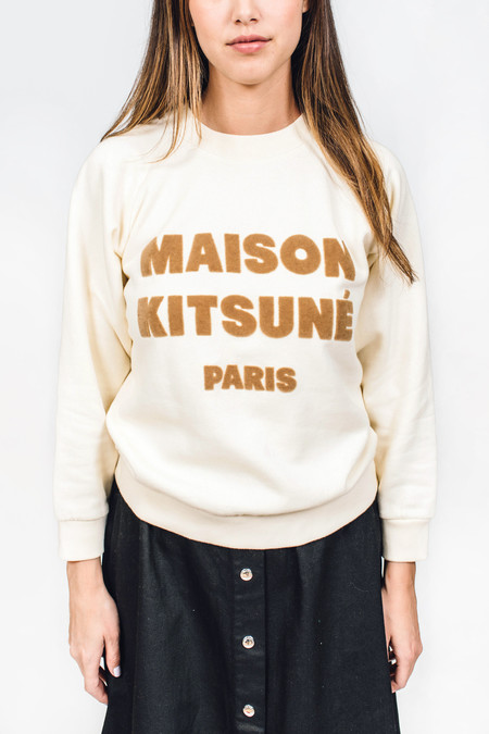 Maison Kitsune Sweat Shirt Hair Print
