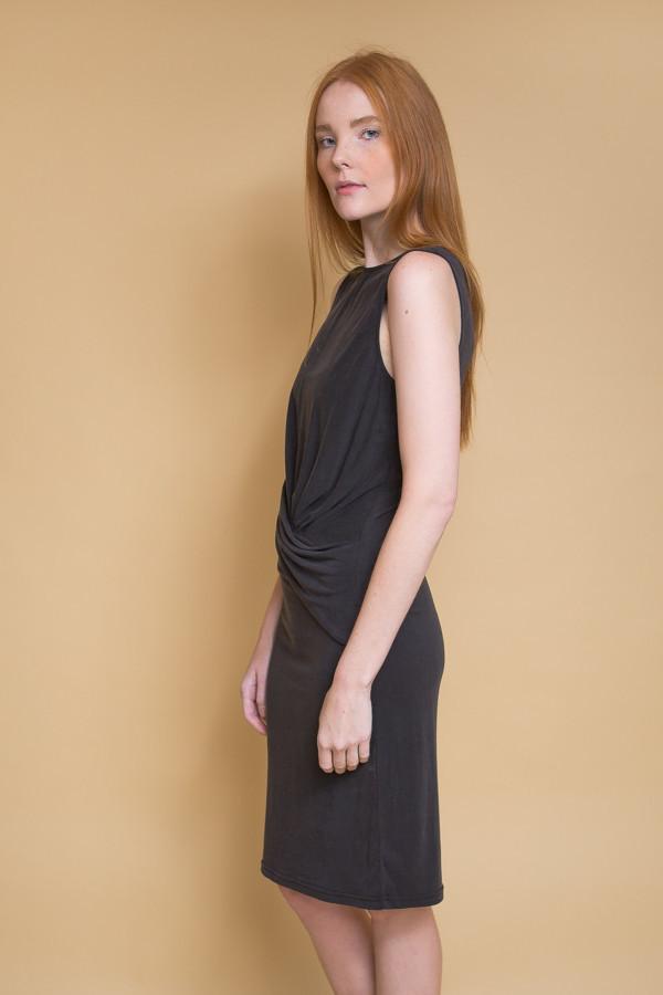Just Female Carey Drapy Dress / Black