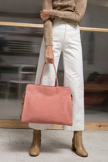 Creatures of Comfort Large Satchel - pink suede