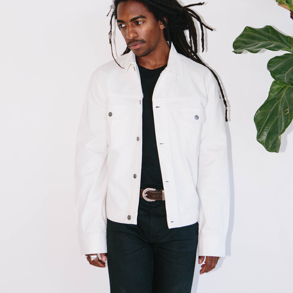 Basic Rights Denim Jacket, White