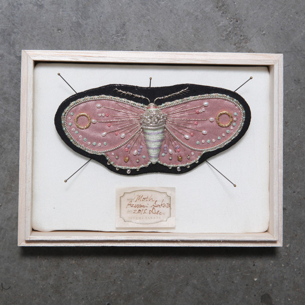 Azumi Sakata Moth Brooch Large