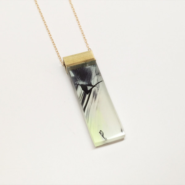 Mary Mooney Painted Pendant Necklace