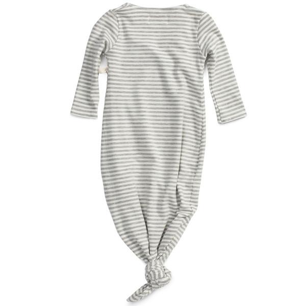 Kimono Baby Gown Dove Stripe