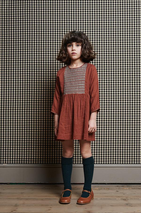 Caramel Malachite Girl's Dress
