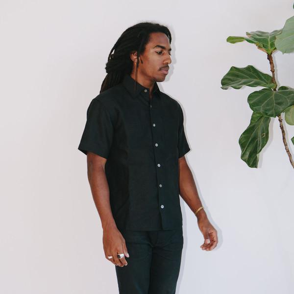 Blluemade Short-Sleeve Linen Shirt