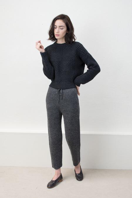 Micaela Greg Melange Black Bevel Sweater