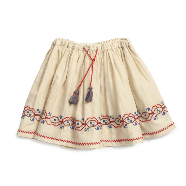 Caramel Baby & Child Olida Embroidered Skirt
