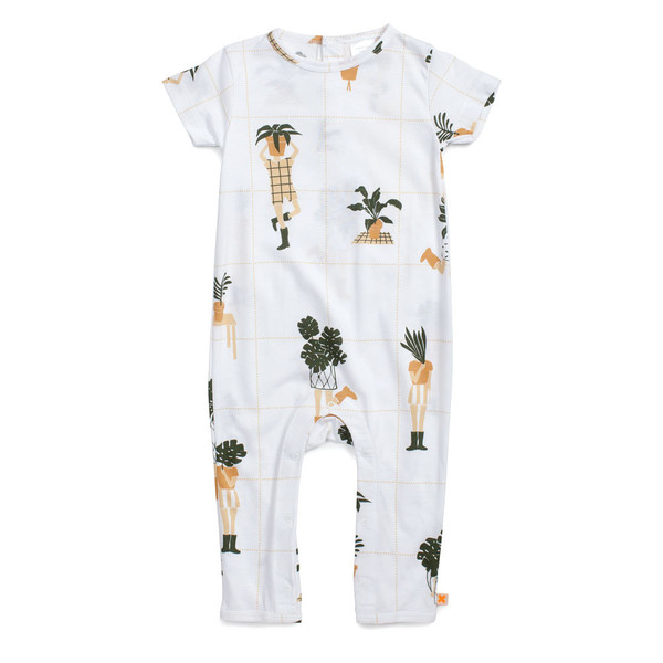 Tiny Cottons Short Sleeve One-Piece Crazy Garden