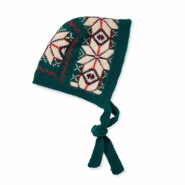 Caramel Snowflake Baby Bonnet