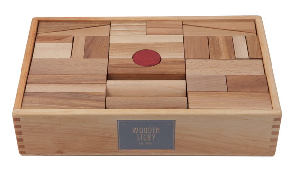 Wooden Story XL Natural Blocks - Coucou Boston