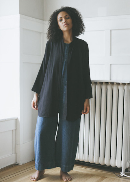 Black Crane Square Shirt - Black