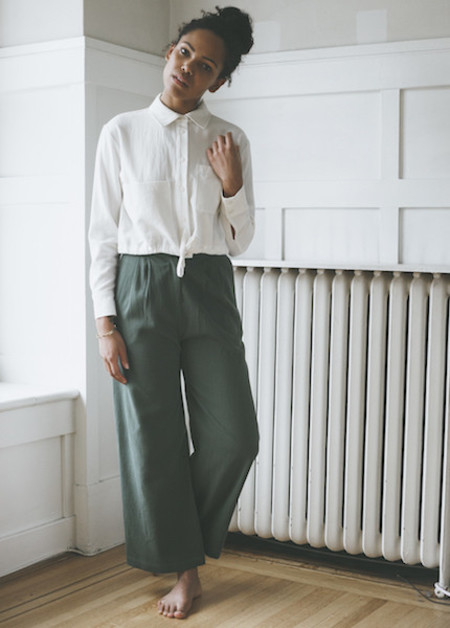 First Rite - Wide Trouser in Jade