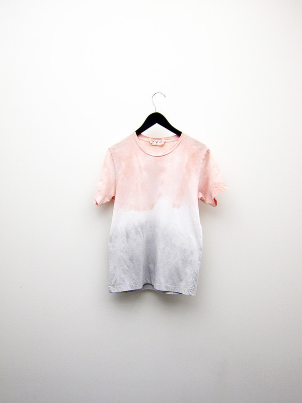 Audrey Louise Reynolds T-Shirt, Pink to Grey