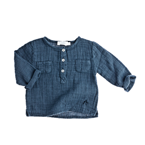 Tocoto Navy Henley - Coucou Boston