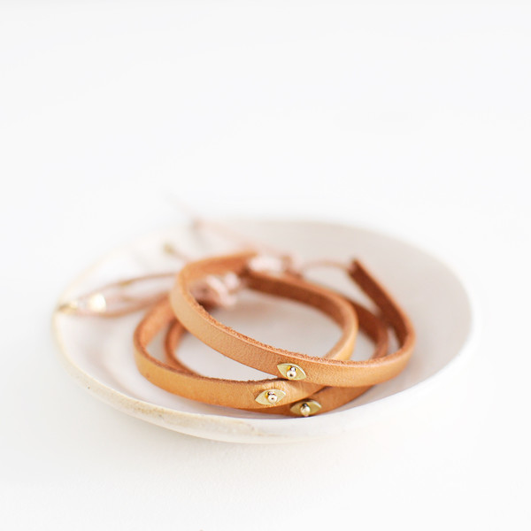 ILD DESERT EYE LEATHER BRACELET