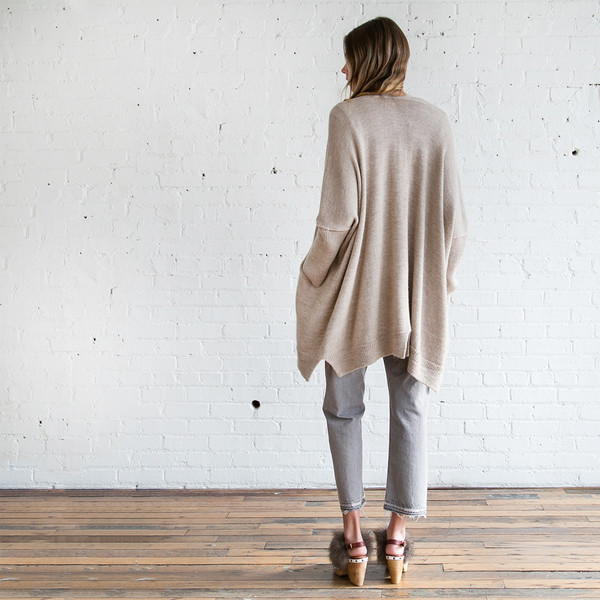 Lauren Manoogian Wide Cardigan Oatmeal SOLD OUT