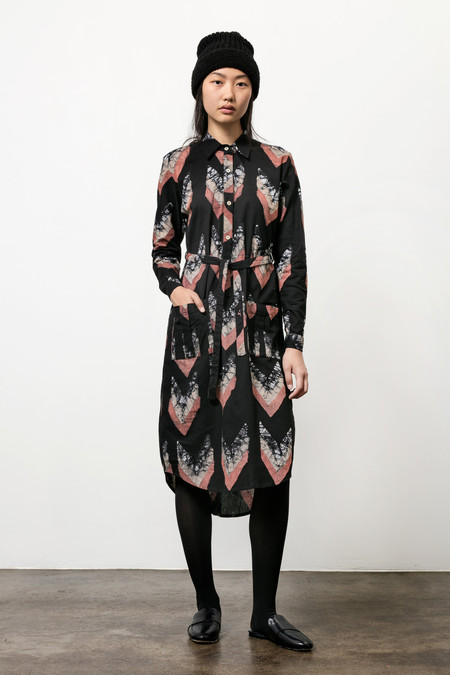Osei-Duro Causa Dress in Chevrons