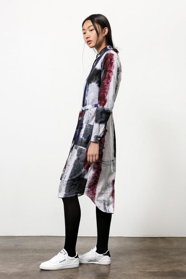 Osei-Duro Causa Dress in Mauve Brushstrokes