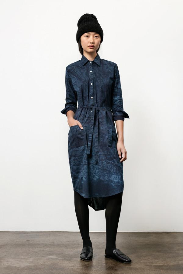 Osei-Duro Causa Dress in Natural Indigo